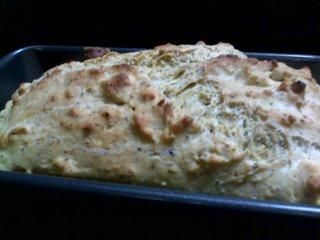 Gluten free yeast free bread loaf