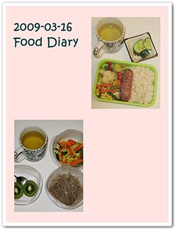 A real life food diary