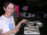 Gluten Free Food Wifie (aka Lyndsay) prepares a gluten free mackerel recipe