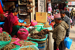 Local market in Nepal